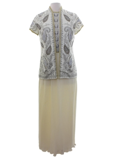1960's Womens Alfred Shaheen Designer Knit Dress