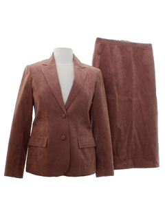 1980's Womens Ultra Suede Suit