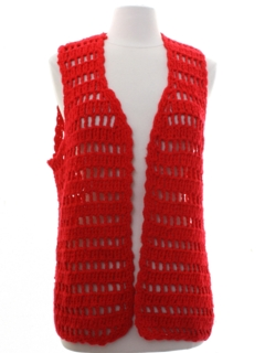 1970's Womens Crocheted Sweater Vest