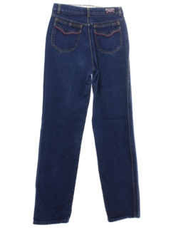 1980's Womens Totally 80s Brittania Highwaisted Denim Jeans Pants