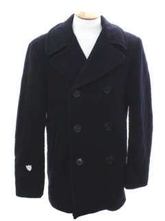 1970's Mens Wool Pea Coat Jacket