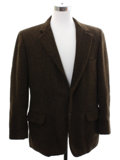1950's Mens Harris Tweed Blazer Sport Coat Jacket