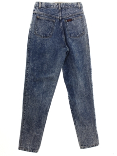 1980's Womens Sasson Totally 80s Acid Washed Highwaisted Denim Jeans Pants