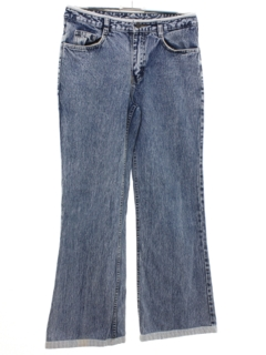 1990's Womens Low Rise Bellbottom Denim Jeans Pants