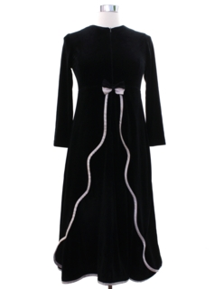 1990's Womens Velveteen Cocktail Dress