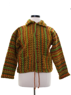 1980's Womens Hippie Sweater Jacket
