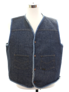 1960's Mens Denim Vest