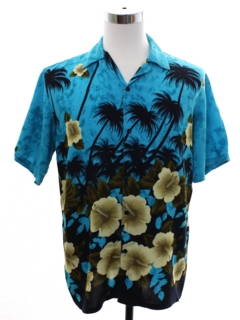 1980's Mens Totally 80s Rayon Hawaiian Shirt