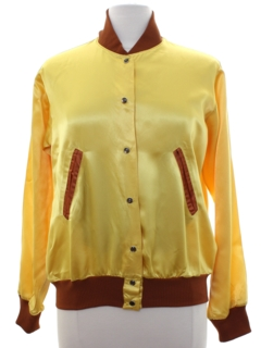 1970's Womens Satin Baseball Jacket