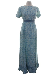 1960's Womens Mod Maxi Dress