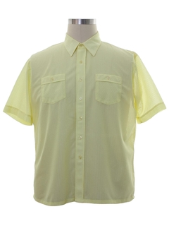 1970's Mens Mod Sheer Sport Shirt