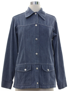 1970's Womens Brushed Cotton Denim Western Leisure Jacket
