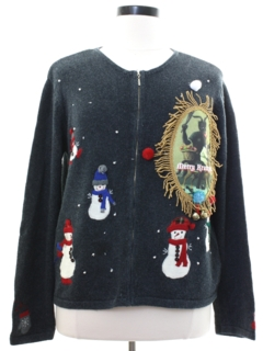 1980's Womens Krampus Ugly Christmas Sweater