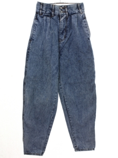 1980's Womens Totally 80s Highwaisted Denim Jeans Pants