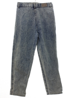 1980's Womens Totally 80s Acid Washed Highwaisted Denim Jeans Pants