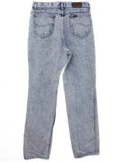 1980's Womens Totally 80s Lee Acid Washed Highwaisted Denim Jeans Pants