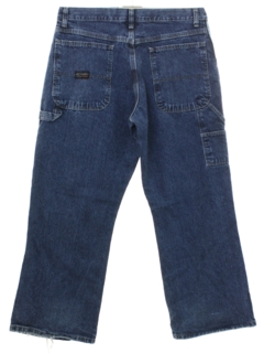 1990's Mens Wide Leg Denim Cargo Jeans Pants