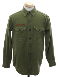 1960's Mens or Boys Scouting Shirt