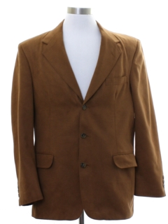1990's Mens Faux Suede Blazer Sport Coat Jacket