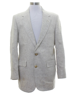 1980's Mens Preppy Linen Blazer Sport Coat Jacket