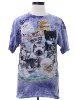1990's Womens Cat Animal T-shirt