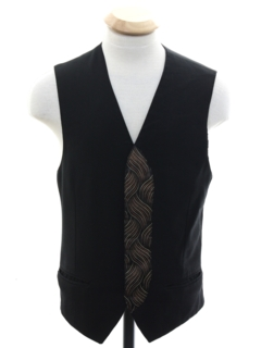 1980's Unisex Ladies or Boys Totally 80s Tuxedo Vest