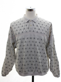 1980's Mens Totally 80s Graphic Print Pullover Shirt