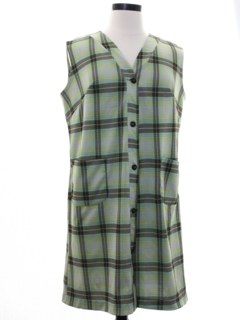 1970's Womens Mod A-Line Jumper Dress
