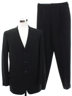 1960's Mens Mod Wool Pinstriped Suit