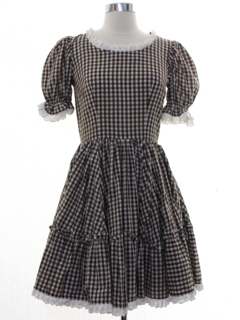 1970's Womens Square Dance Dress