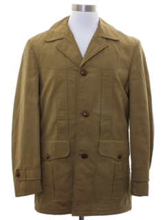 1980's Mens Mod Car Coat Jacket