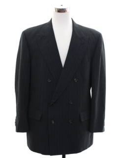 1980's Mens Double Breasted Tuxedo Blazer Jacket