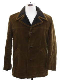 1970's Mens Corduroy Car Coat Jacket
