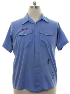 1970's Mens Grunge Work Shirt