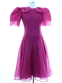 1980's Womens Totally 80s Prom Dress