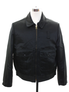 1950's Mens Mod Nylon Work Zip Jacket