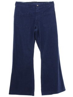 1970's Unisex Naval Style Bellbottom Jeans Pants