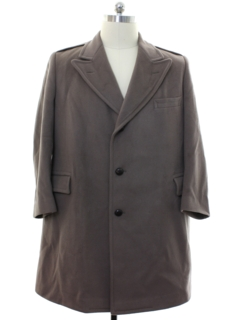 1970's Mens Mod Wool Overcoat Jacket