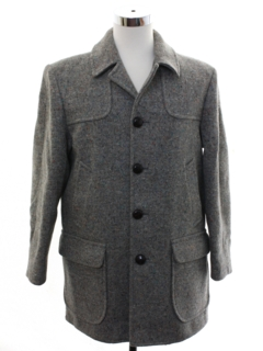 1960's Mens Pendleton Wool Car Coat Jacket