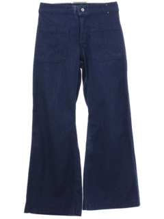 1970's Unisex Denim Bellbottom Jeans Pants