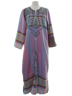1990's Womens Hippie Caftan Dress