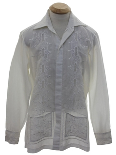 1970's Mens Sheer Christian Dior Hippie Shirt