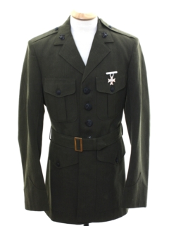 1980's Mens Army Military Jacket