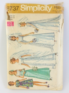 1970's Womens Bridal Sewing Pattern
