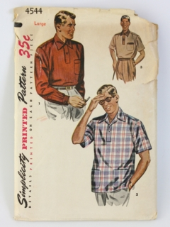 1950's Mens Sewing Pattern
