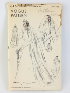 1950's Womens Vogue Bridal Sewing Pattern