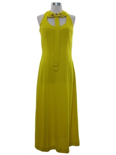 1970's Womens Mod A-Line Maxi Dress