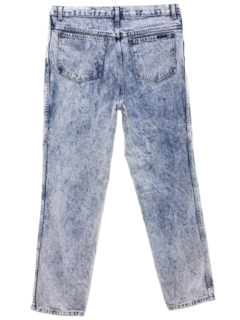 1980's Womens Totally 80s Style Sasson Acid Washed Denim Jeans Pants