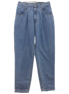 1990's Womens Highwaisted Pleated Lee Denim Jeans Pants