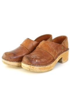 1970's Womens Accessories - Clog Shoes